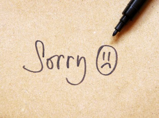 """Workers say """"sorry"""" 8 times per day, 236,520 times over the average lifetime"""